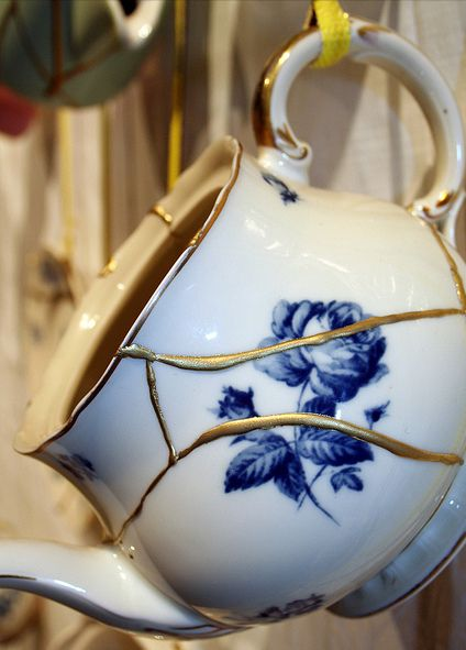 Cracked Pot Shows Beautiful Treasures